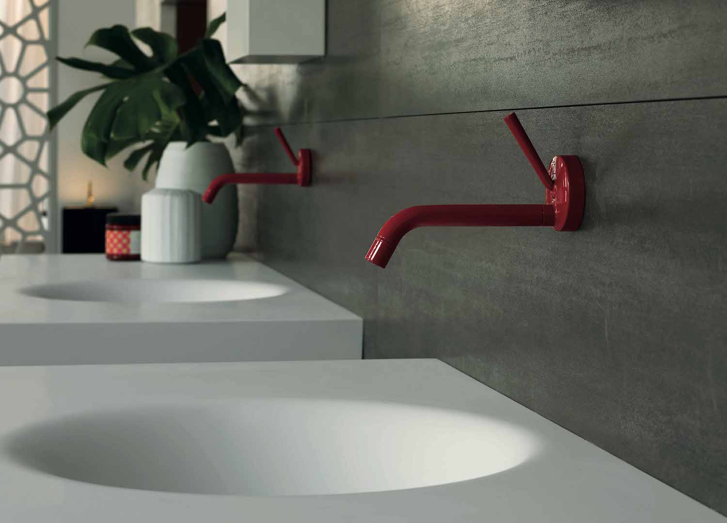 Red Zucchetti Lav Faucets